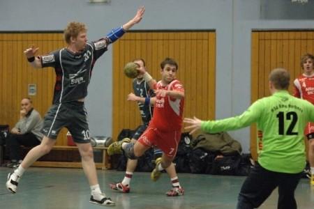 Johannes beim Handball spielen