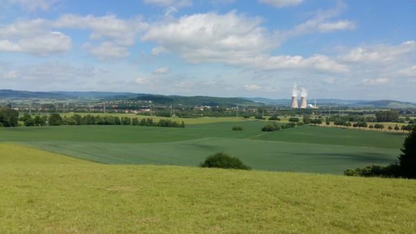 Blick vom Baßberg zwischen Ohr und Hämelschenburg.