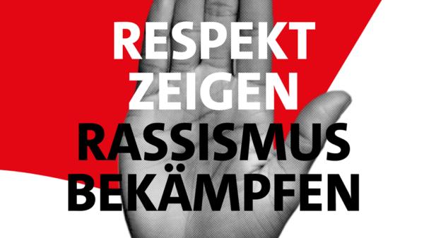 Hand Respekt zeigen Rassismus bekämpfen